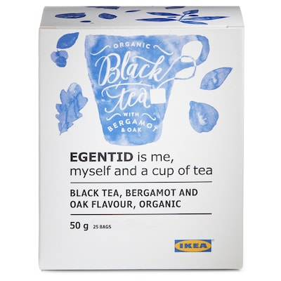EGENTID Black tea, bergamot/oak/UTZ certified/organic, 50 g
