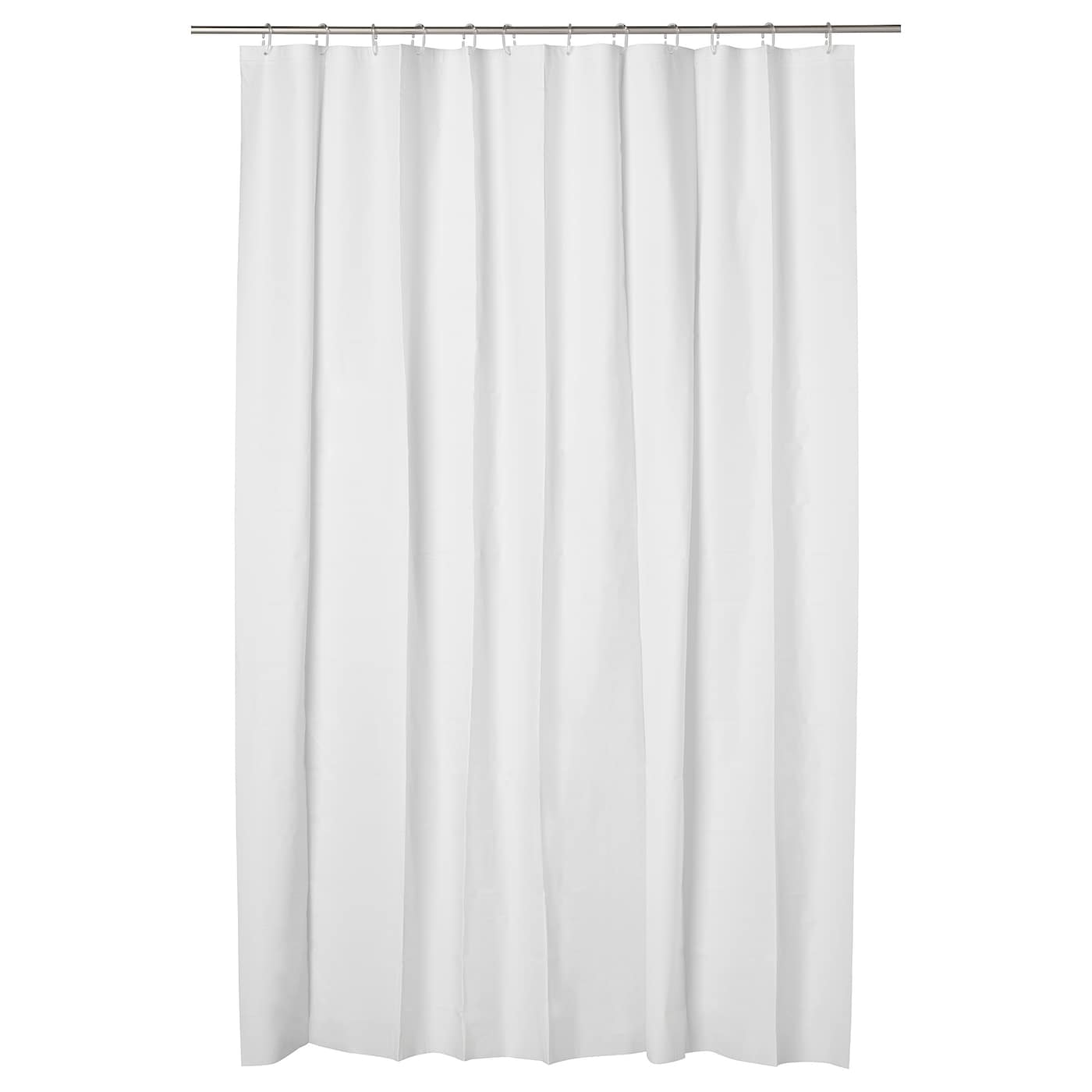 IKEA EGGEGRUND shower curtain Can be easily cut to the desired length.