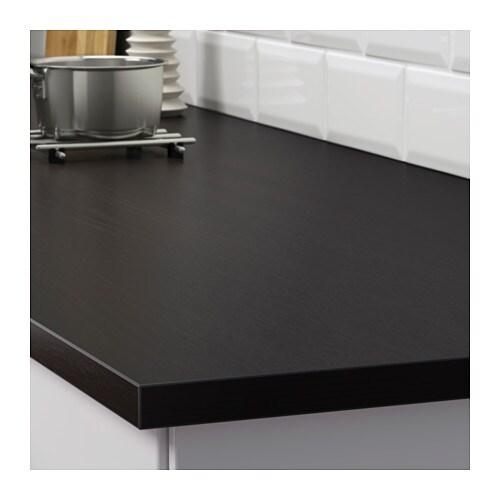 Ekbacken Custom Made Worktop Brown Black Laminate 45 1 63