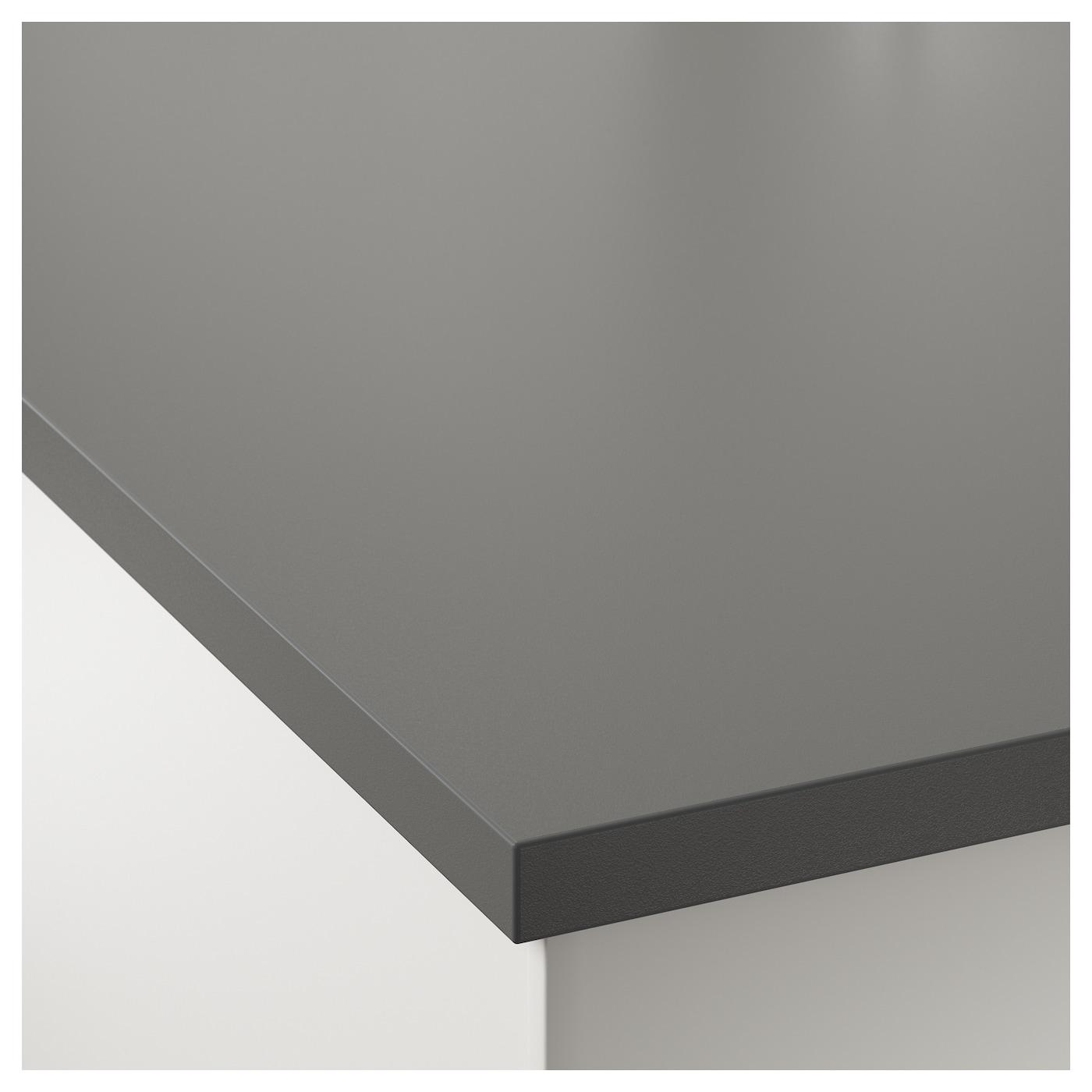 ekbacken custom made worktop dark grey laminate 10 45x2 8. Black Bedroom Furniture Sets. Home Design Ideas