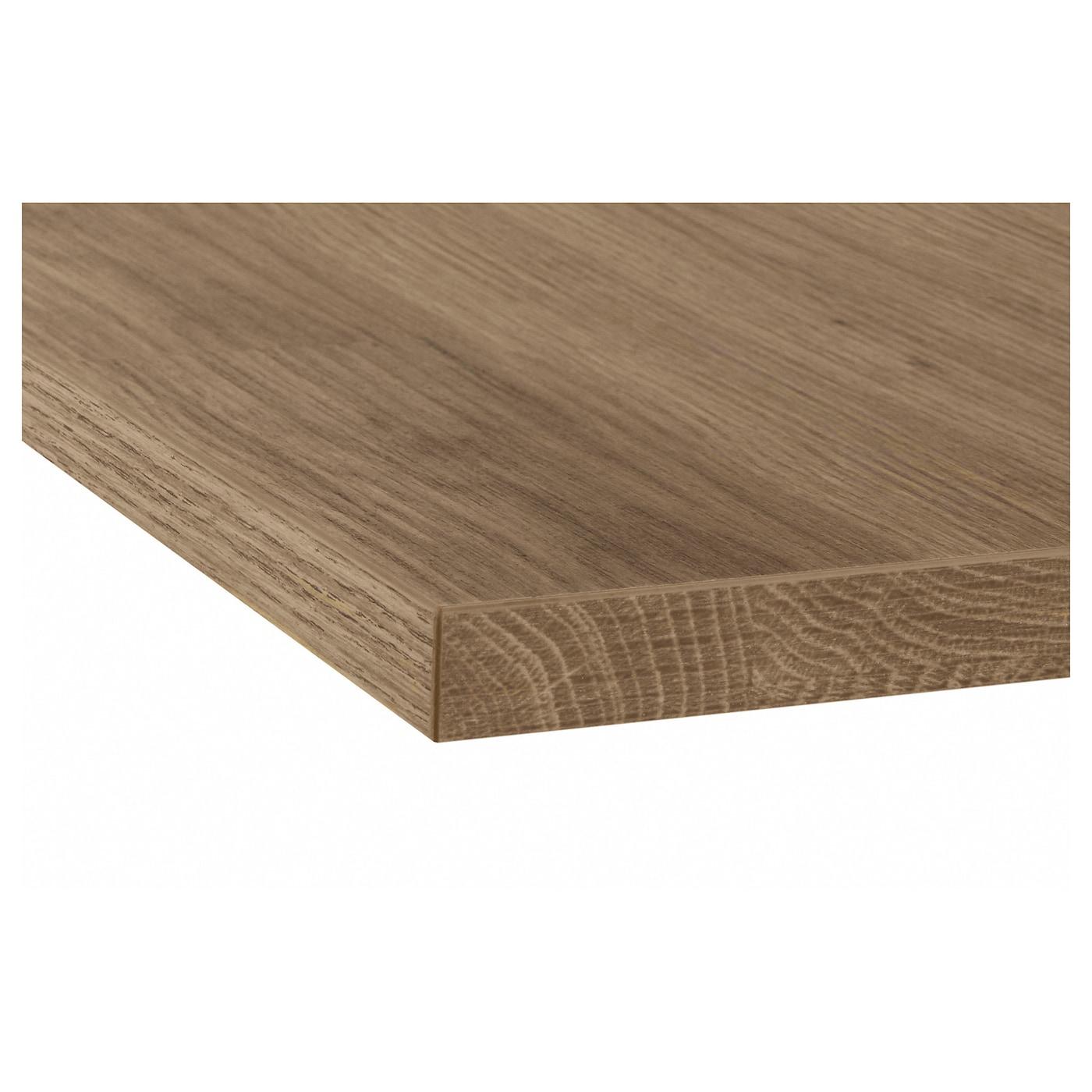ekbacken custom made worktop dark oak effect laminate 63 6 125x2 8 cm ikea. Black Bedroom Furniture Sets. Home Design Ideas