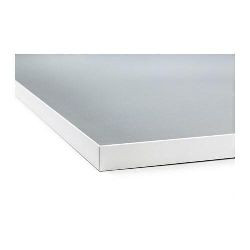 Ekbacken worktop double sided light grey white with white for Ikea ekbacken countertop