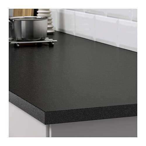 EKBACKEN Worktop Black stone effect 186×2 8 cm  IKEA