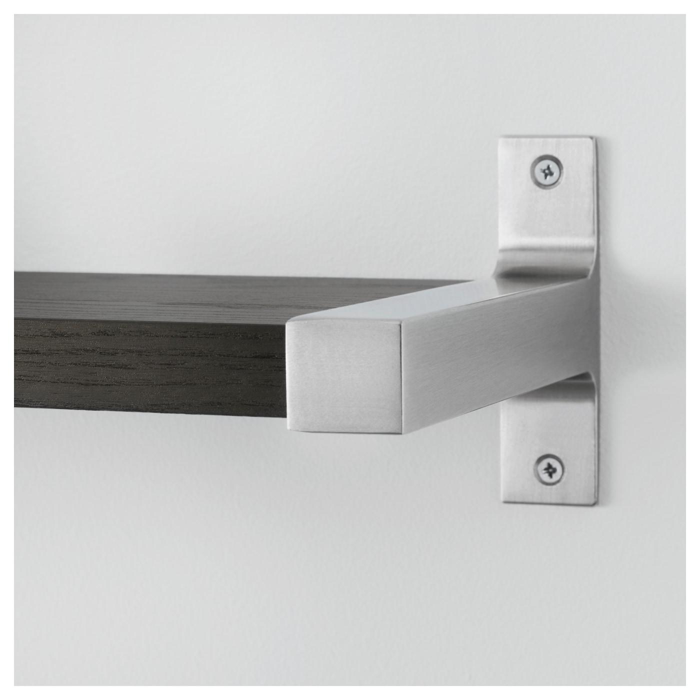 Ekby Bj 196 Rnum Ekby J 196 Rpen Wall Shelf Black Brown Aluminium