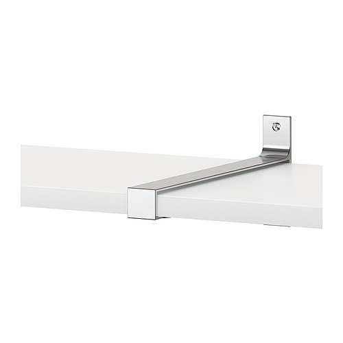 EKBY BJÄRNUM Jointing bracket IKEA Connects 2 shelves for a larger shelf combination.  Partitioning wall inside keeps shelves in place.