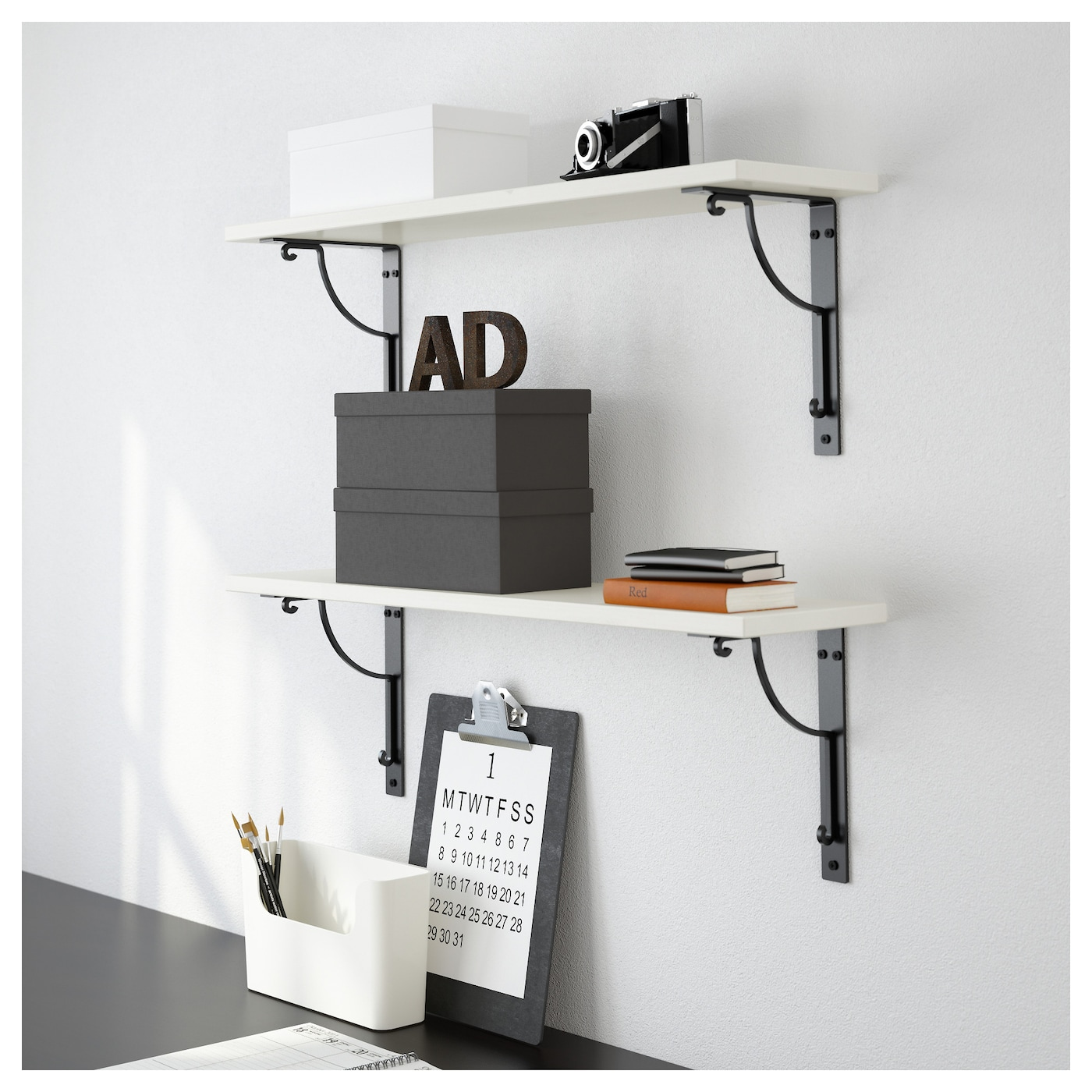 IKEA EKBY HÅLL/EKBY HEMNES wall shelf Solid wood is a durable natural material.
