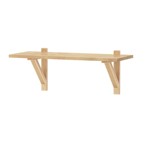 IKEA EKBY LAIVA/EKBY VALTER shelf Solid wood is a durable natural material.