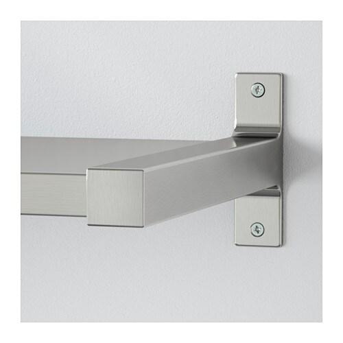 ekby mossby ekby bj rnum wall shelf aluminium 119x28 cm ikea. Black Bedroom Furniture Sets. Home Design Ideas