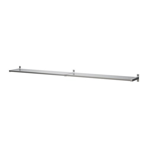 IKEA EKBY MOSSBY/EKBY BJÄRNUM wall shelf Partitioning wall inside keeps shelves in place.