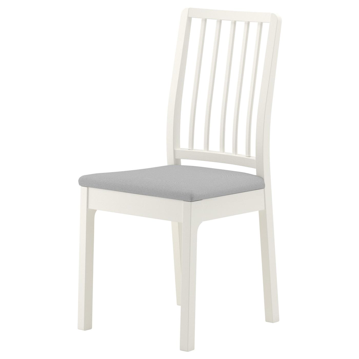 EKEDALEN Chair White/ramna light grey - IKEA