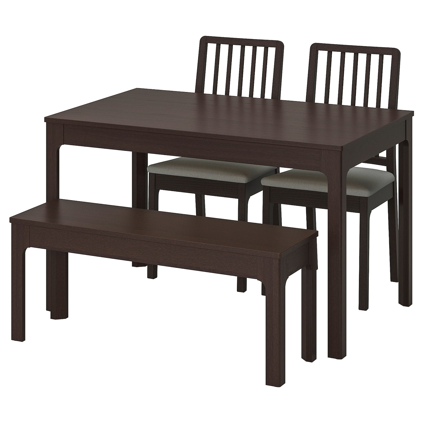IKEA EKEDALEN/EKEDALEN table with 2 chairs and bench