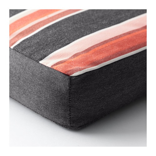 IKEA EKERÖN sun lounger cushion Ties and a strap keep the sun lounger cushion firmly in place.
