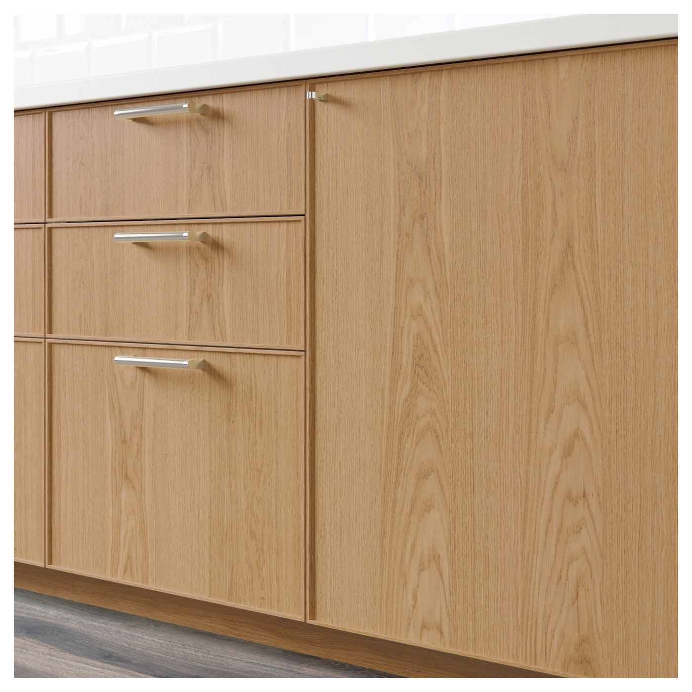 kitchen cabinets door fronts ekestad drawer front oak 40 x 20 cm ikea 20307