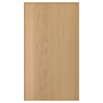 EKESTAD Front for dishwasher, oak, 45x80 cm