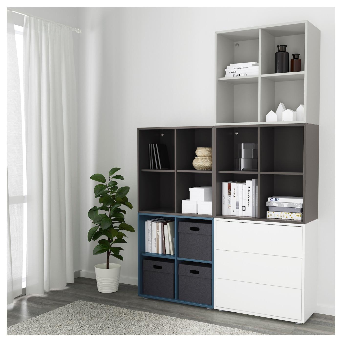 eket cabinet combination with feet multicolour 1 140 x 35 x 212 cm ikea. Black Bedroom Furniture Sets. Home Design Ideas