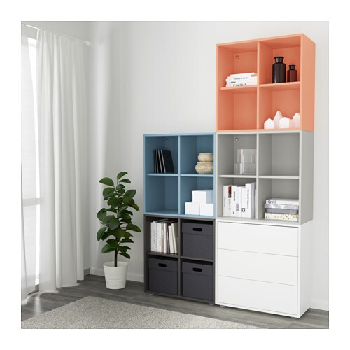eket cabinet combination with feet multicolour 2 140x35x212 cm ikea. Black Bedroom Furniture Sets. Home Design Ideas