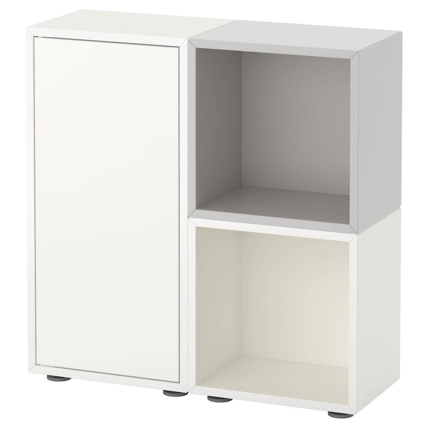 eket cabinet combination with feet white grey 70 x 25 x 72 cm ikea. Black Bedroom Furniture Sets. Home Design Ideas