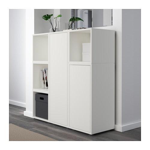 eket cabinet combination with feet white 105x35x107 cm ikea. Black Bedroom Furniture Sets. Home Design Ideas