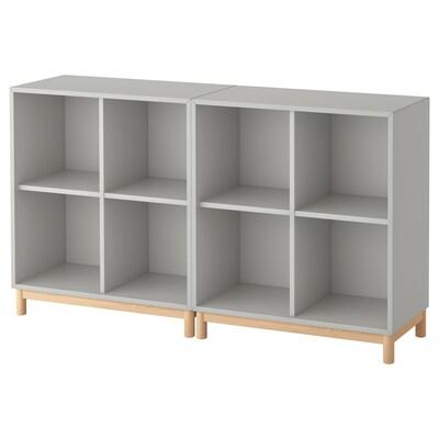 EKET cabinet combination with legs light grey 70 cm 140 cm 35 cm 80 cm