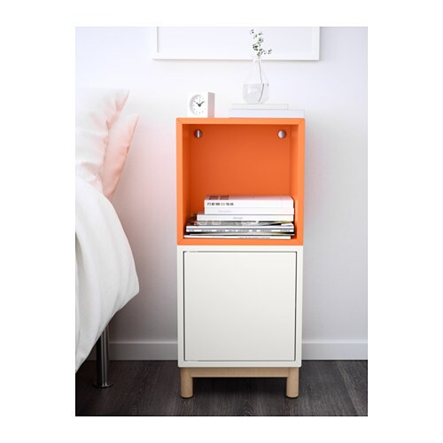 Eket Cabinet Combination With Legs White Orange 35x35x80 Cm Ikea