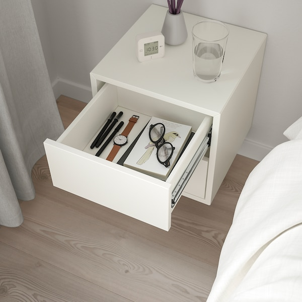 EKET Wall cabinet with 2 drawers, white, 35x35x35 cm