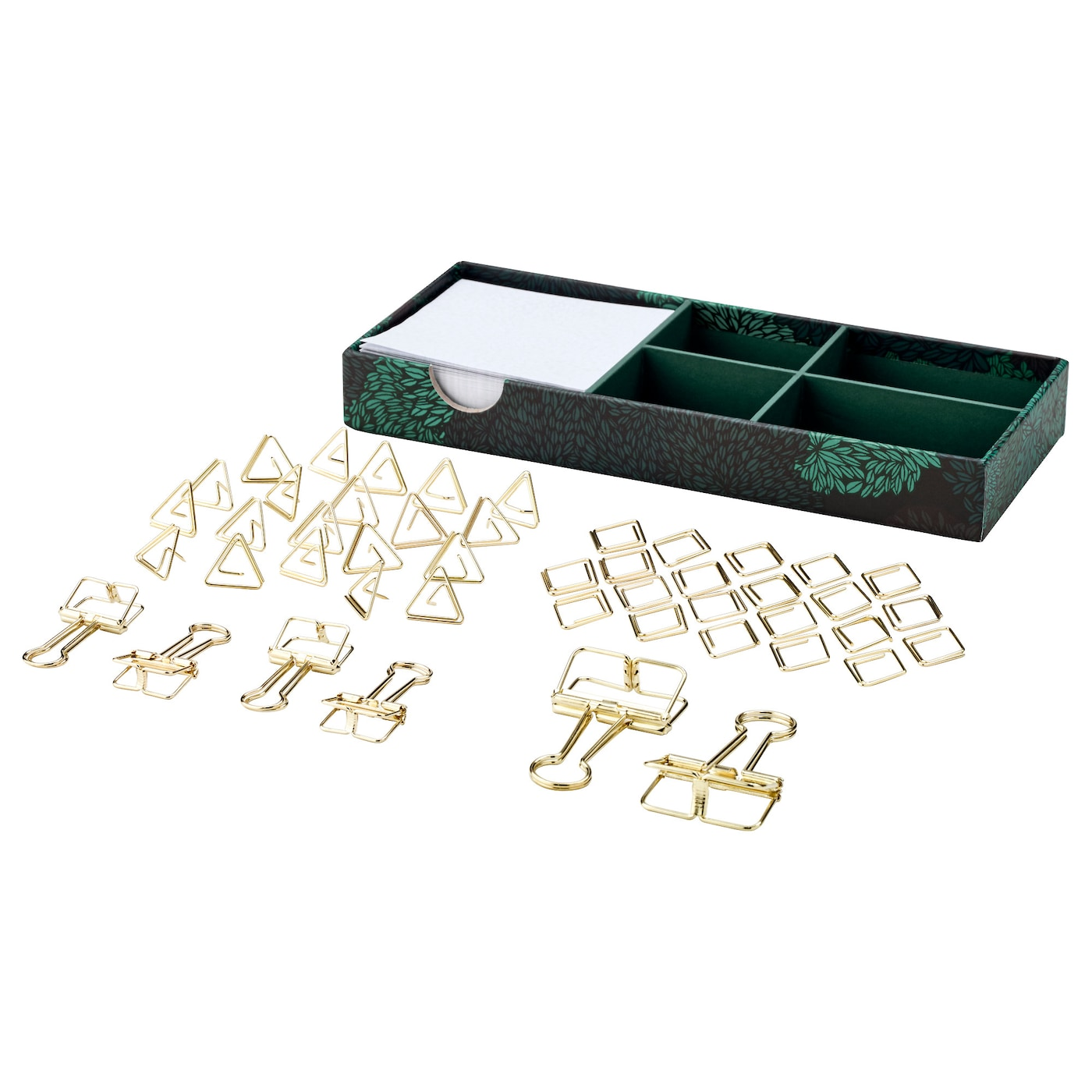 IKEA EKLOG 48-piece stationery set Ideal for storing desk accessories.