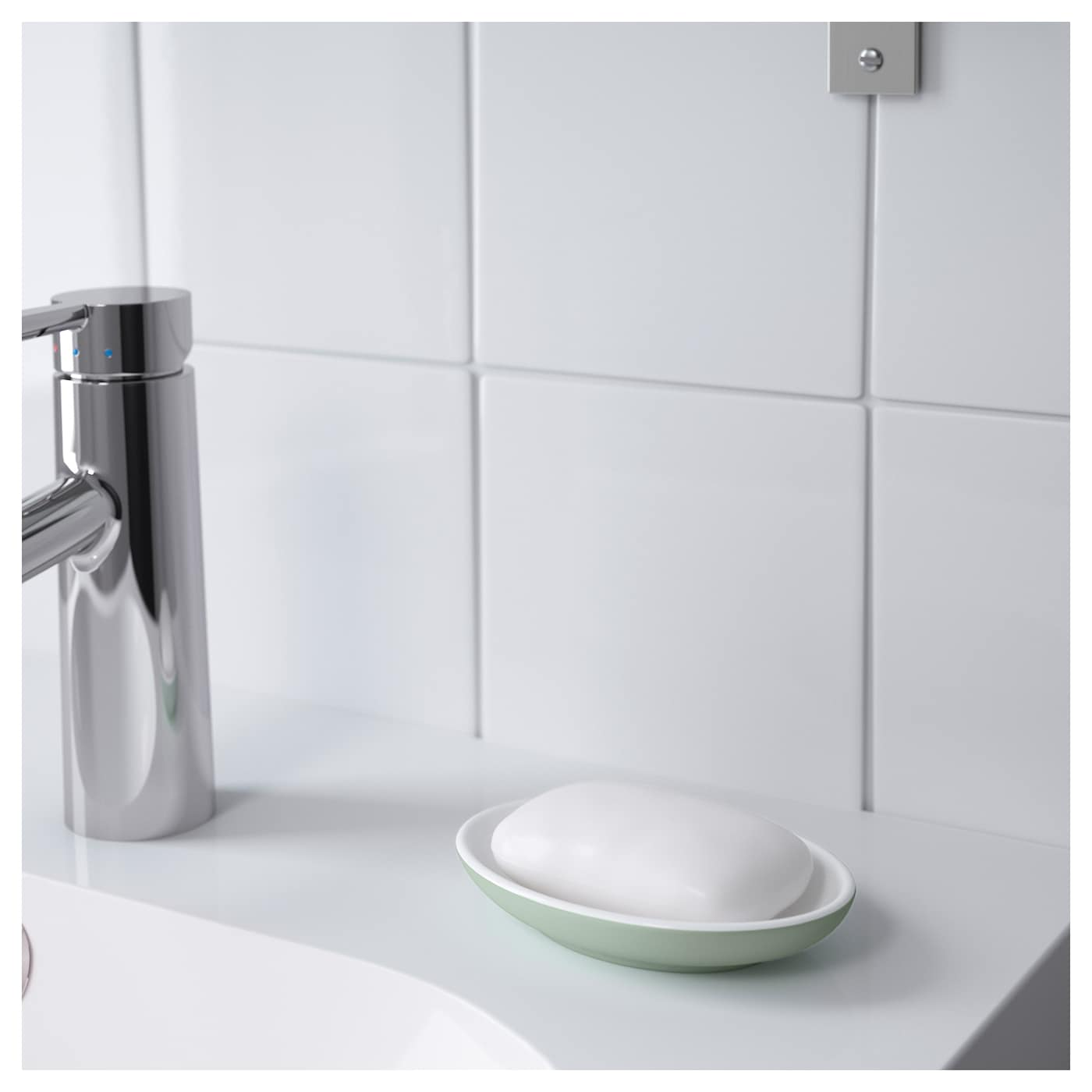 IKEA EKOLN soap dish Easy to keep clean by just wiping with a damp cloth.