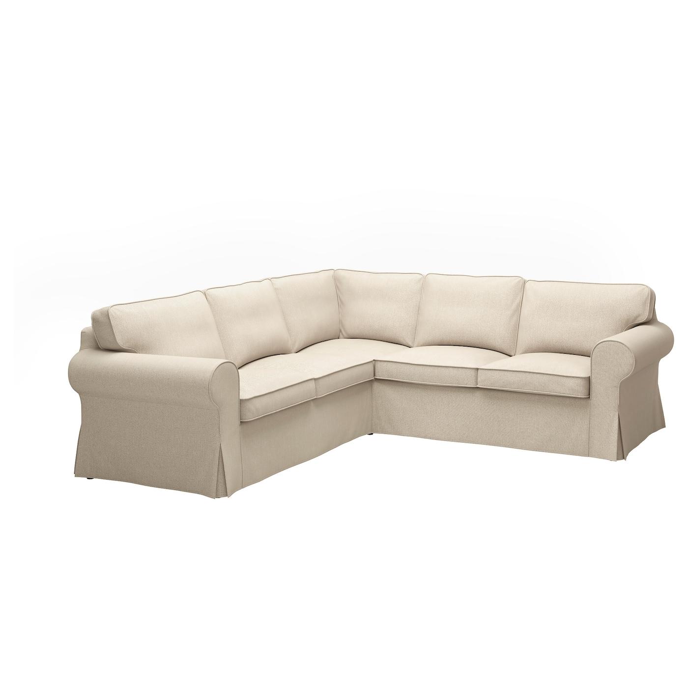 ektorp corner sofa 4 seat nordvalla dark beige ikea. Black Bedroom Furniture Sets. Home Design Ideas