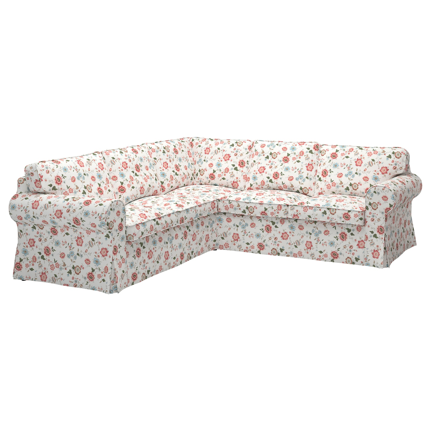Ektorp corner sofa 4 seat videslund multicolour ikea - Sofas en esquina ...