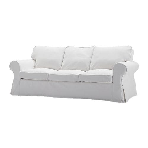 EKTORP HÅVET Three-seat sofa-bed IKEA Readily converts into a roomy bed for two.  Smart, hidden storage in the backrest.