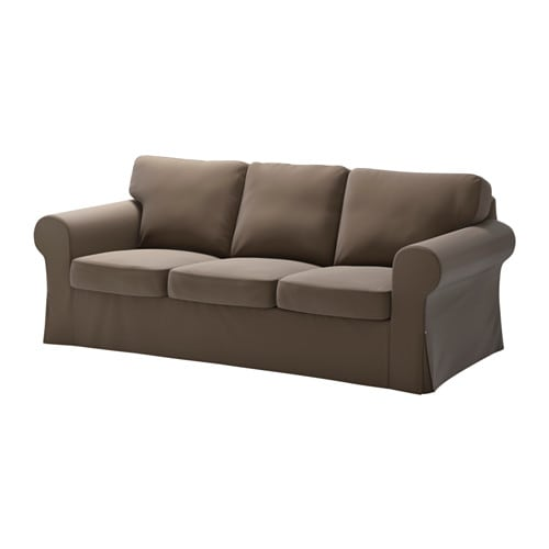 Ektorp Three Seat Sofa Kniva Brown Ikea