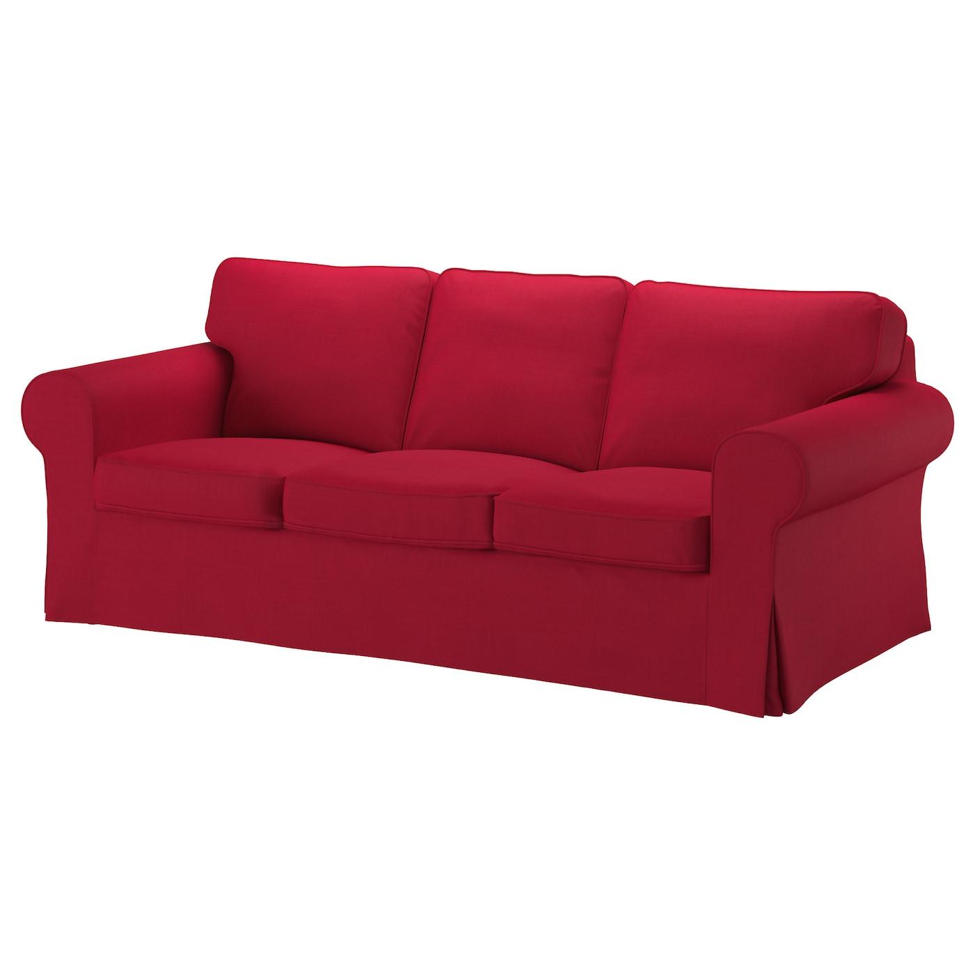 Ektorp Three Seat Sofa Nordvalla Red Ikea