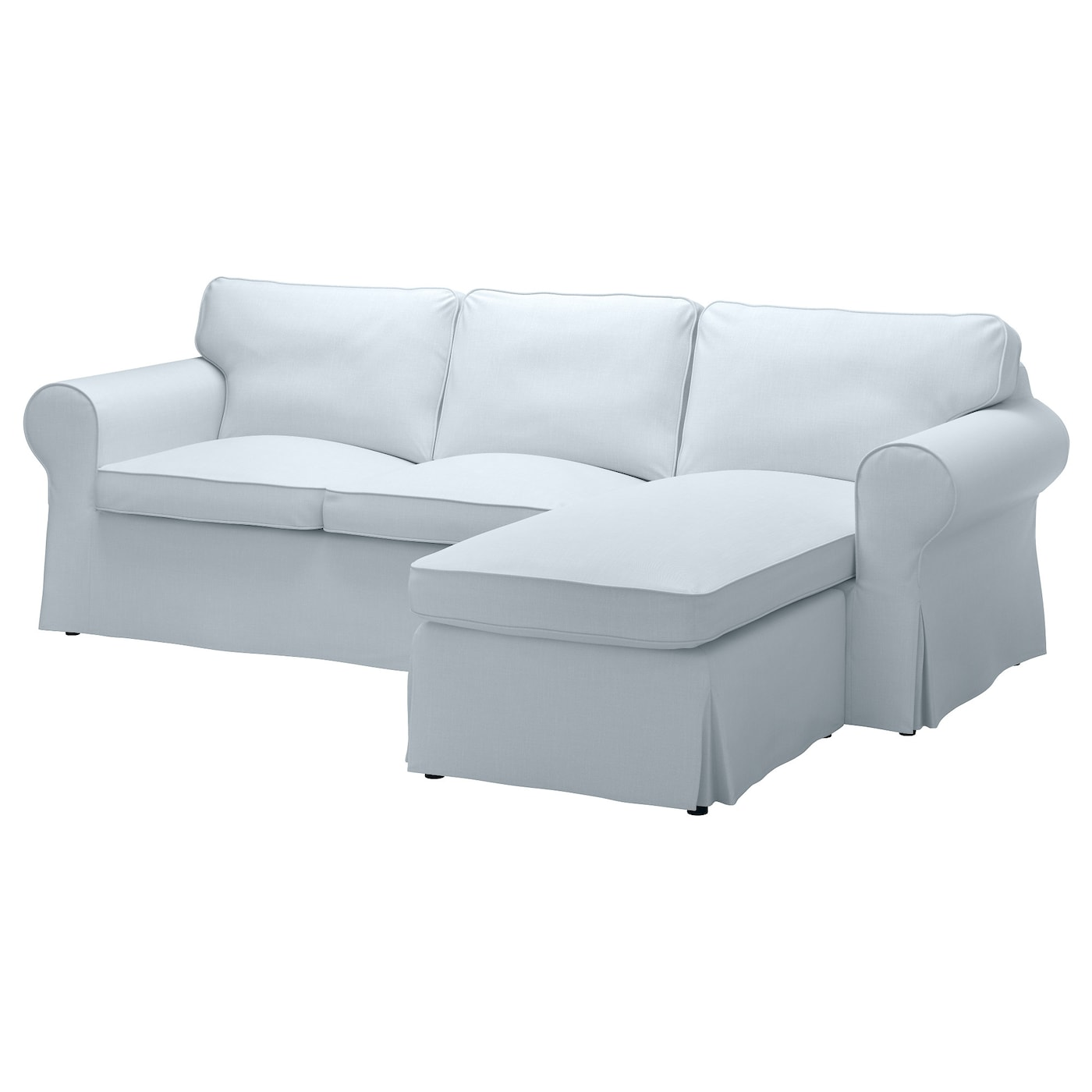 Ektorp two seat sofa and chaise longue nordvalla light for Chaise longue en toile pliante