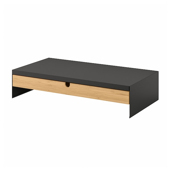 ELLOVEN Monitor stand with drawer, anthracite