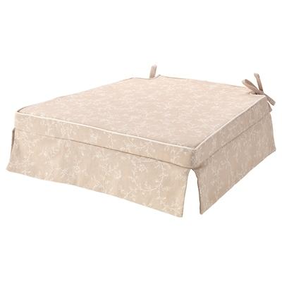 ELSEBET Chair pad, light beige, 43x42x4.0 cm