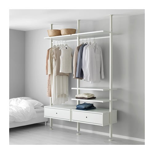 ELVARLI 2 Sections White 175x51x222 350 Cm IKEA