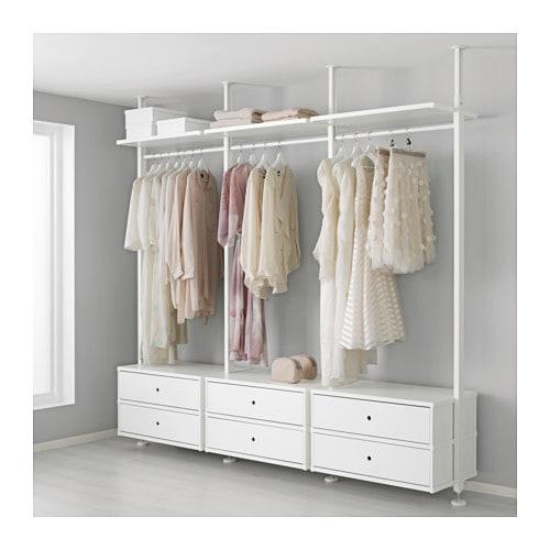 Elvarli 3 Sections White 258x51x222 350 Cm Ikea