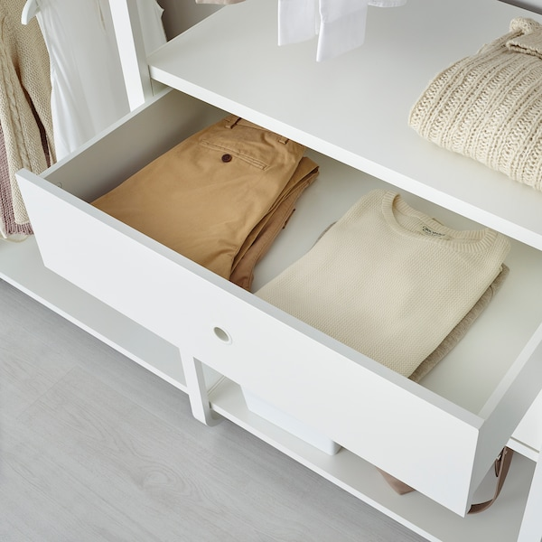ELVARLI 3 sections, white, 205x55x216 cm