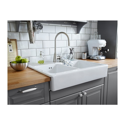 Elverdam kitchen mixer tap stainless steel colour ikea - Evier ikea ceramique ...