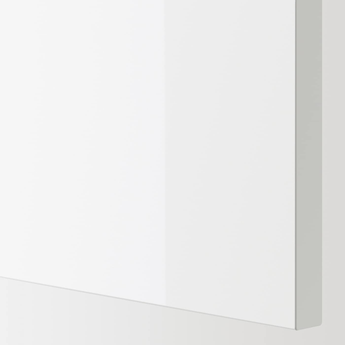 ENHET Base cb w 3 drawers, white/high-gloss white, 60x62x75 cm