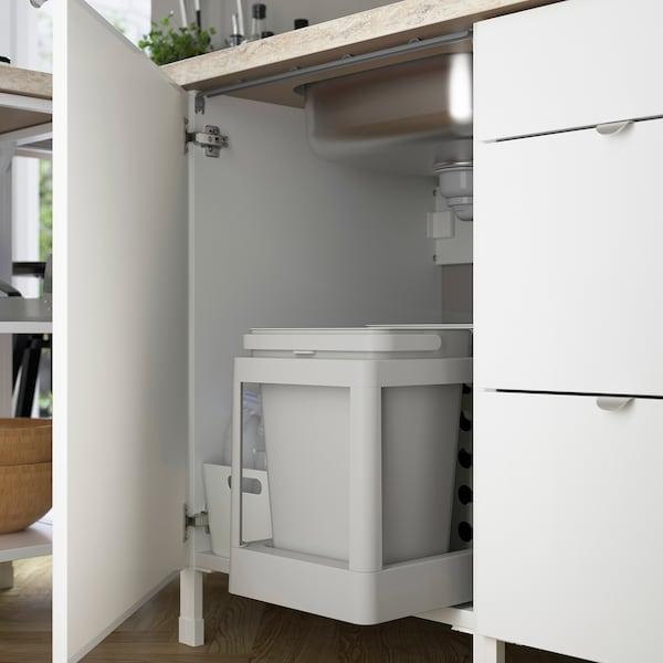 ENHET Bc f sink/door, white/high-gloss white, 60x62x75 cm