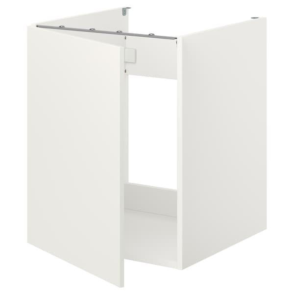 ENHET Bc f sink/door, white, 60x60x75 cm