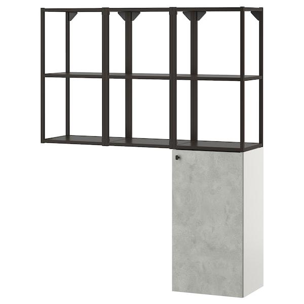 ENHET Storage combination for laundry, anthracite/concrete effect, 120x30x150 cm