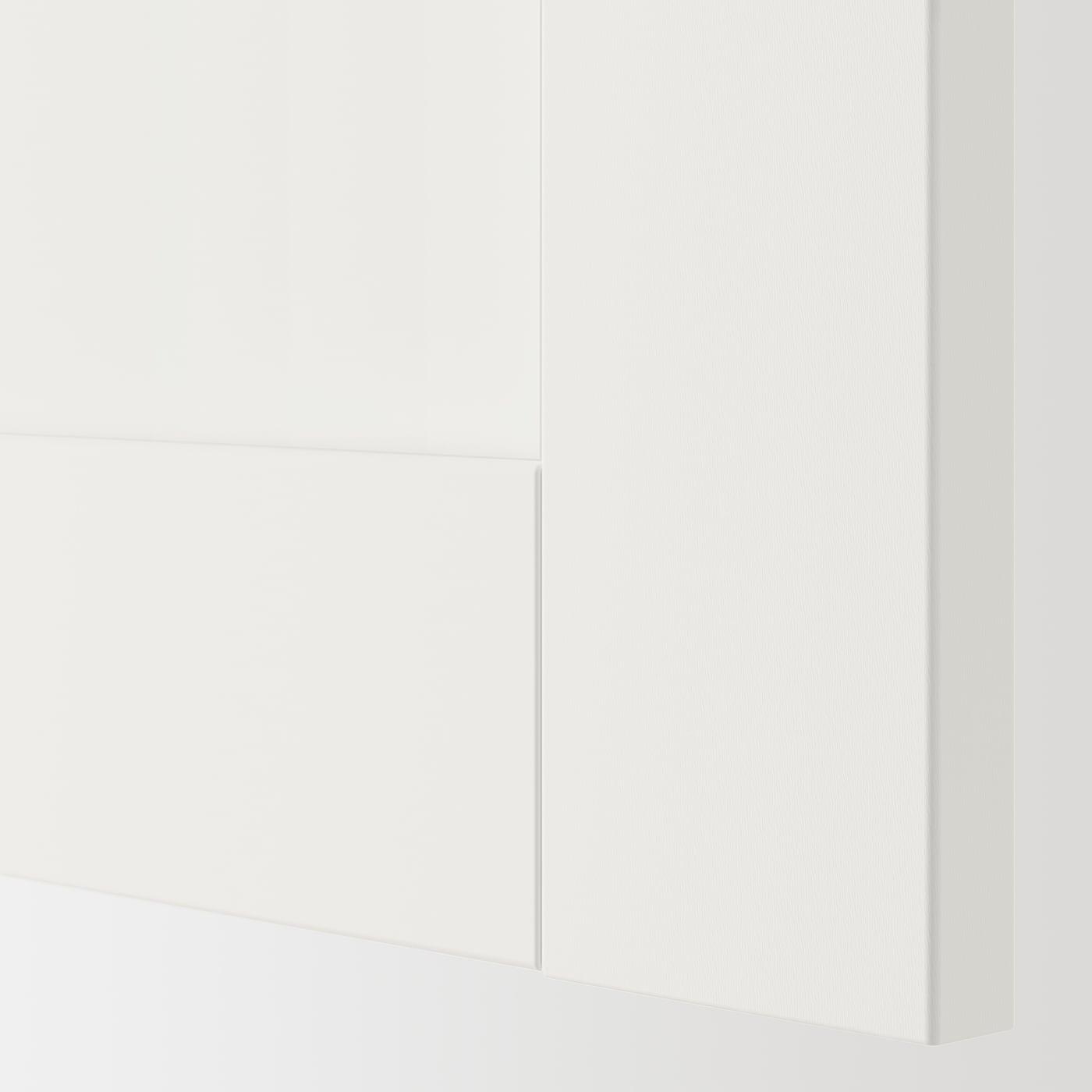 ENHET Wall cb w 2 shlvs/doors, white/white frame, 60x15x75 cm