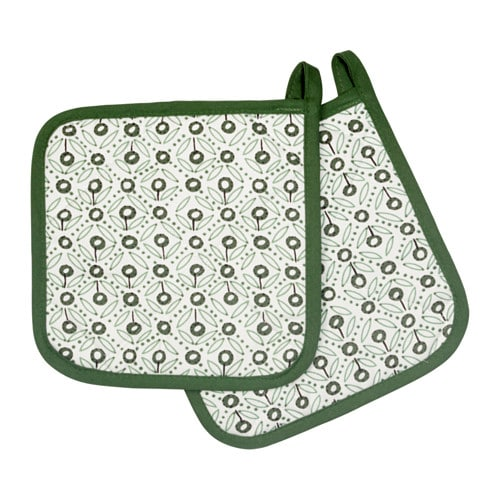 IKEA ENIGT pot holder Felted polyester layer in between gives very good heat insulation.
