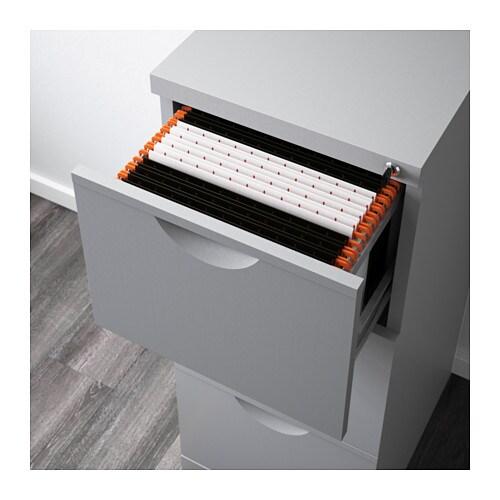 erik file cabinet silver colour 41x104 cm ikea. Black Bedroom Furniture Sets. Home Design Ideas