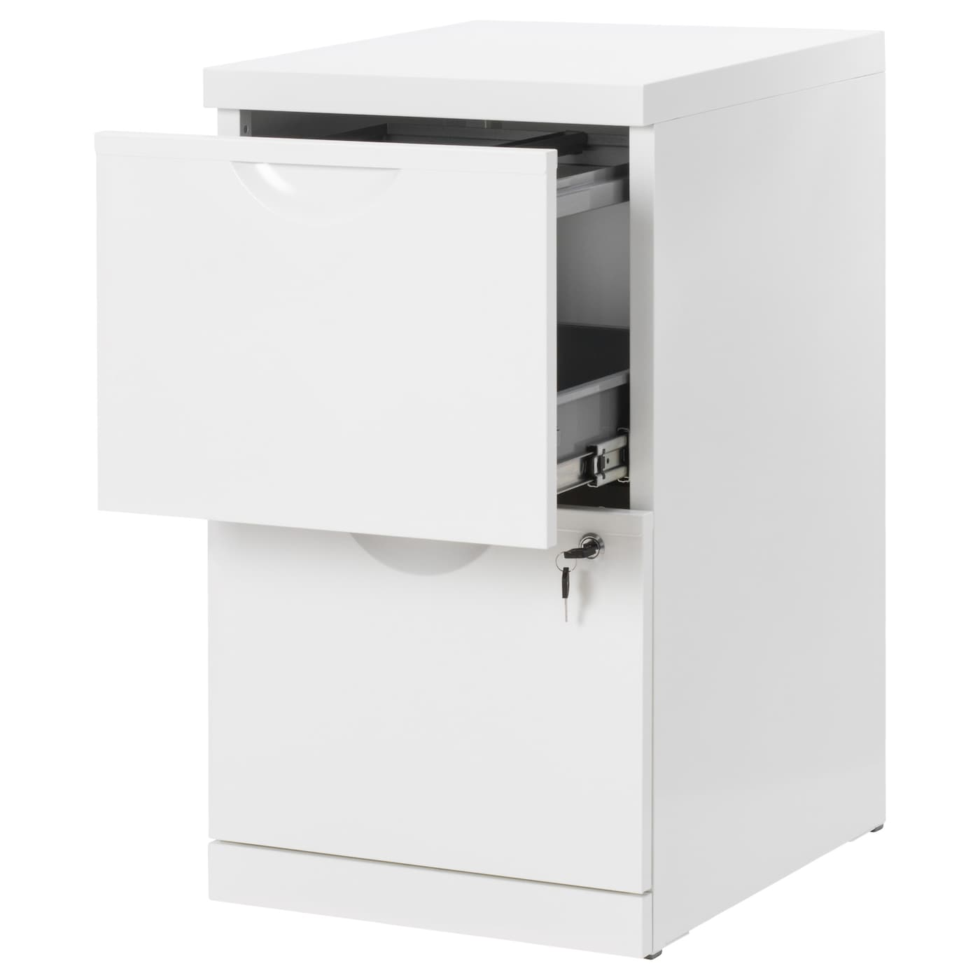 IKEA ERIK file cabinet Drawers for drop files make it easy to sort and store your papers.