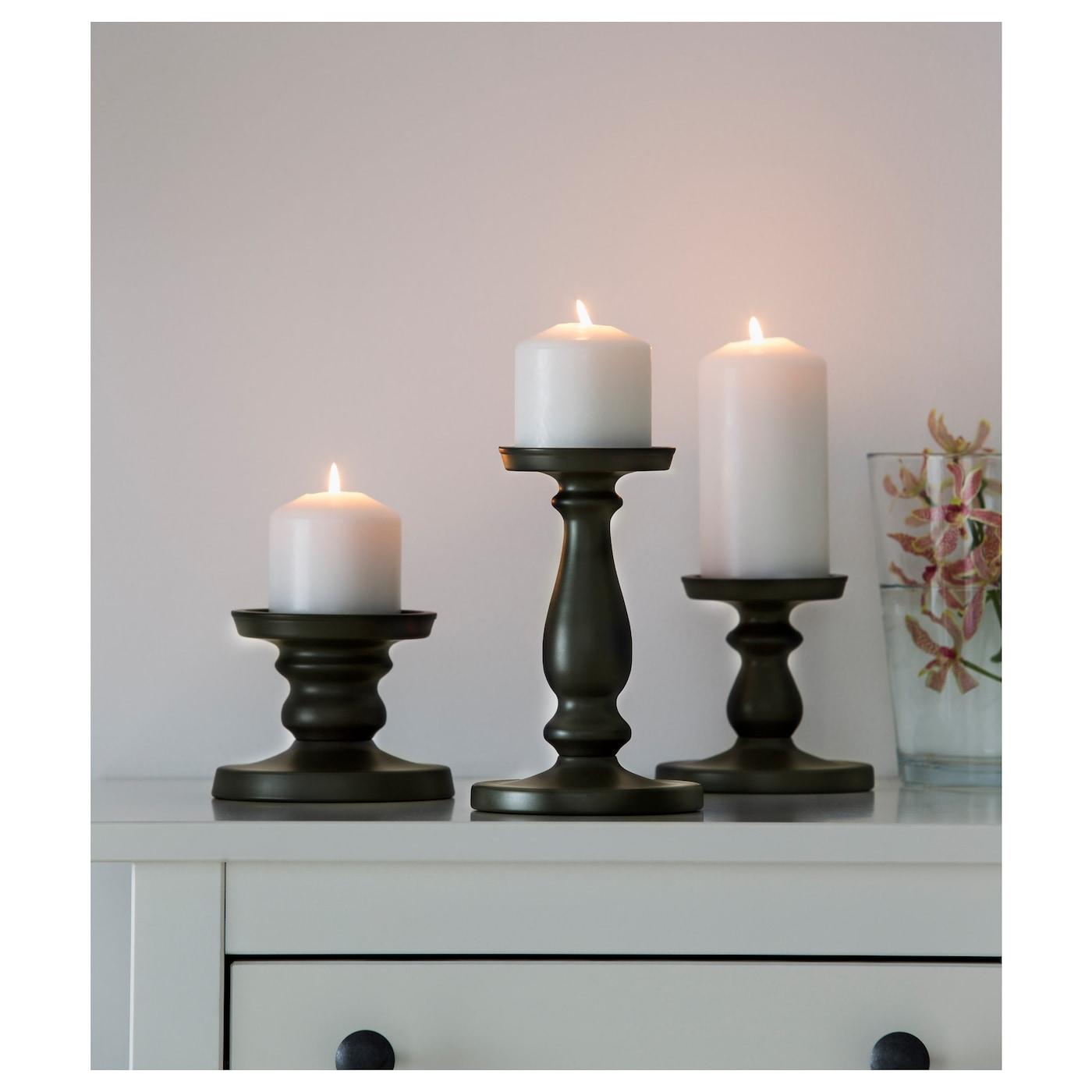 Ers tta block candle holder grey 21 cm ikea - Soportes para velas ...