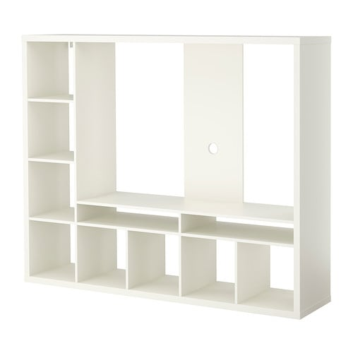 IKEA EXPEDIT/LAPPLAND TV storage unit Back panel is reinforced to hold a flat screen TV.