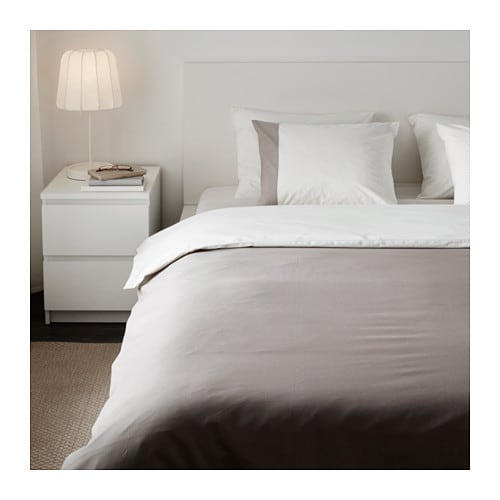 f rglav quilt cover and 4 pillowcases grey white 200x200. Black Bedroom Furniture Sets. Home Design Ideas